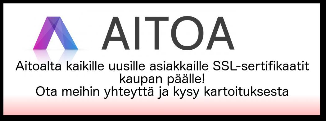 Aitoa SSL-sertifikaatti tarjous